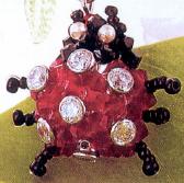 Coccinella con Swarovski